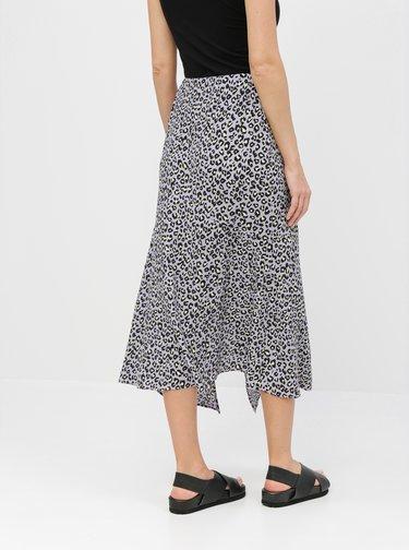 Fusta midi mov cu motiv leopard Miss Selfridge