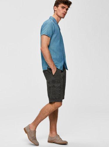 Khaki kraťasy s kapsami Selected Homme
