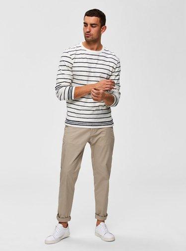 Béžové chino kalhoty Selected Homme Luke