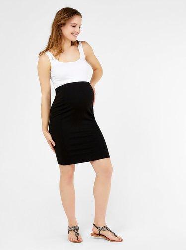 Čierna tehotenská úzka sukňa Mama.licious Luna