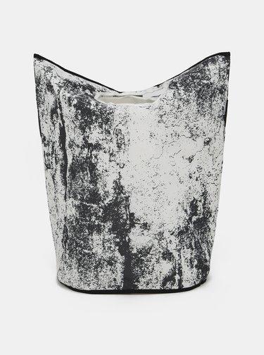 Černo-bílý koš na prádlo Butter Kings