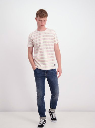 Červeno-biele pruhované tričko Shine Original