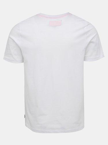 Bílé tričko s potiskem Jack & Jones Autumn