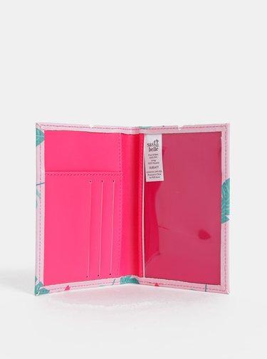 Růžové pouzdro na doklady Sass & Belle