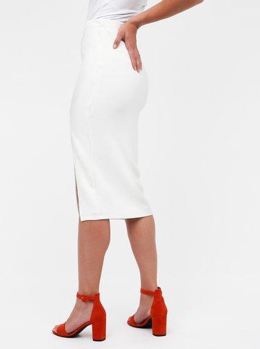 Krémová midi sukně s rozparkem Miss Selfridge