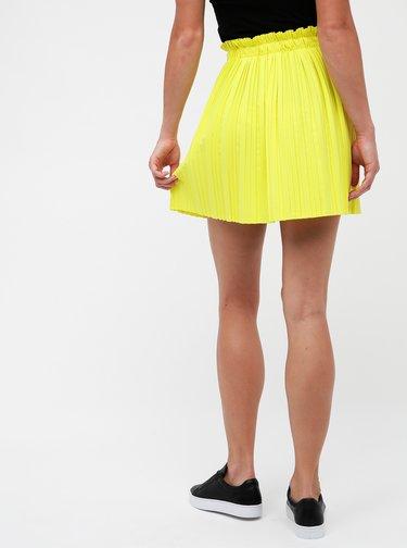 Žltá plisovaná sukňa Haily´s Lana