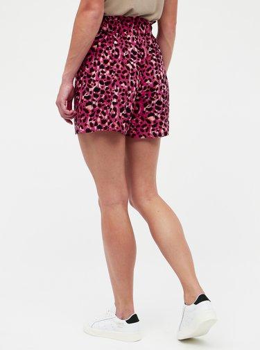 Tmavoružové kraťasy s leopardím vzorom Dorothy Perkins