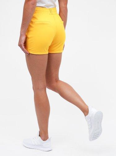 Žlté dámske kraťasy s vysokým pásom Haily´s Jyl
