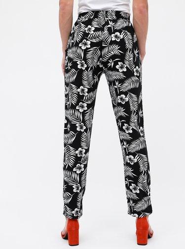 Čierne dámske kvetované nohavice Haily´s Ricky