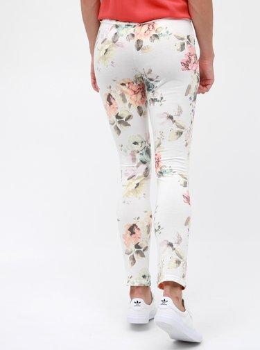 Krémové dámské květované tepláky Haily´s Jada