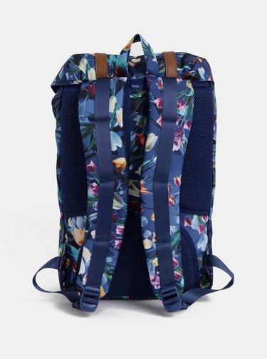 Tmavomodrý dámsky kvetovaný batoh Herschel Supply Lil Amer 17 l