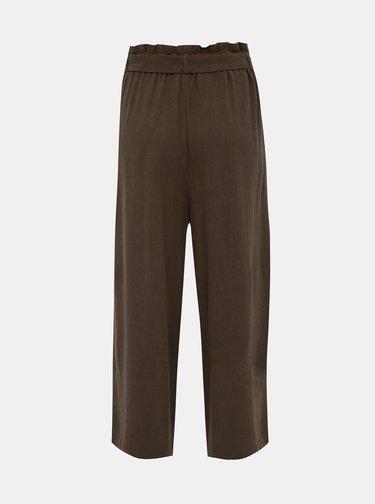 Khaki lněné culottes ONLY Charlie