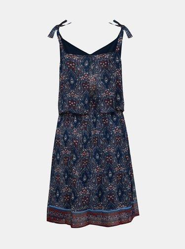 Tmavě modré vzorované šaty ONLY Nina