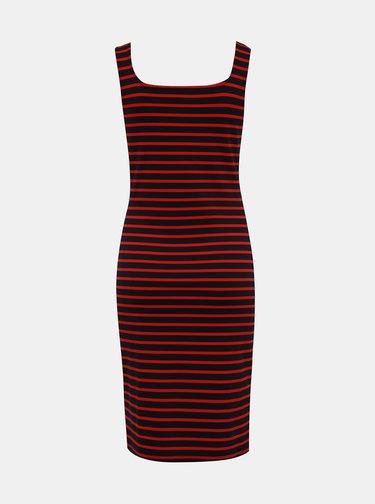 Červeno-modré pruhované basic šaty ONLY Maggie
