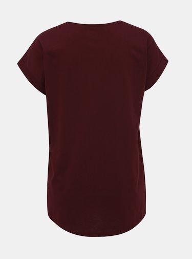 Vínové basic tričko VILA Dreamers