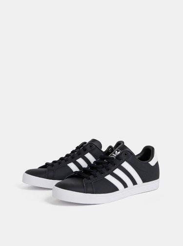 Čierne pánske kožené tenisky adidas Originals Coast