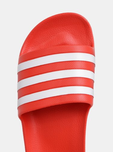 Červené dámské pantofle adidas CORE Adilette