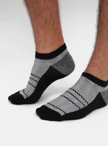 Sada čtyř párů šedých kostkovaných ponožek Jack & Jones Net