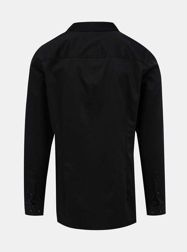 Černá slim fit košile Jack & Jones Parma