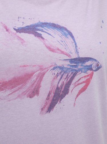 Fialové dámské tričko s potiskem LOAP Aletta