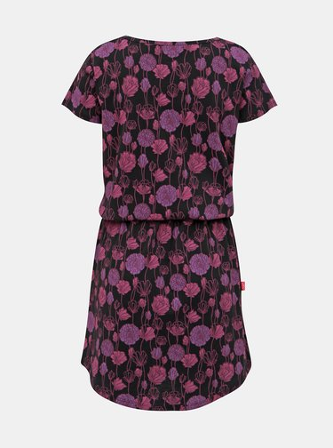 Fialovo-čierne kvetované šaty LOAP Barkley
