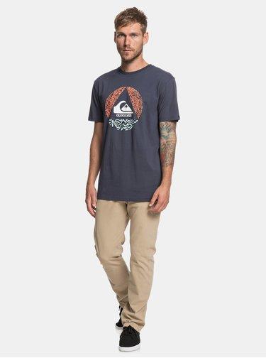 Tmavě modré regular fit tričko Quiksilver