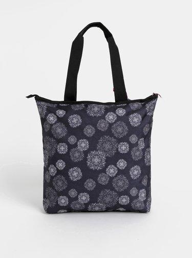 Tmavomodrá dámska vzorovaná taška s odnímatelným púzdrom 2v1 LOAP Falnie