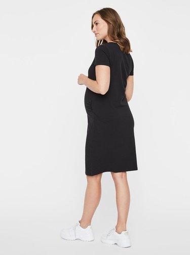 Černé těhotenské basic šaty Mama.licious Lea