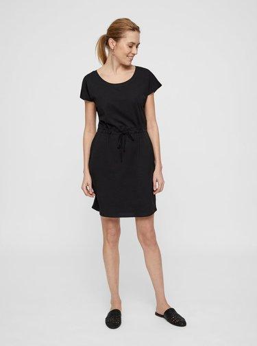 Čierne basic šaty s vreckami VERO MODA April