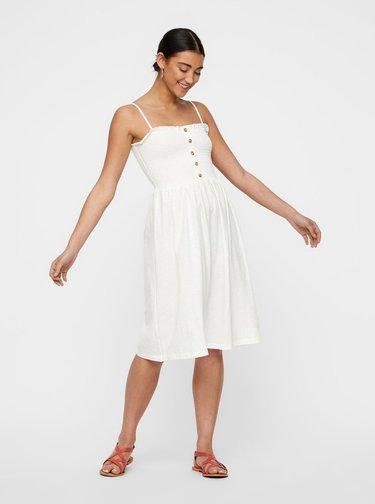 Bílé šaty na ramínka VERO MODA Aria