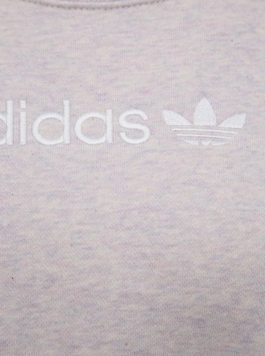 Světle růžová dámská žíhaná mikina adidas Originals Coeeze