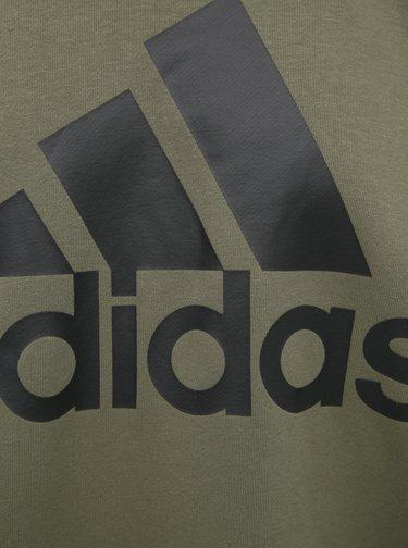Kaki pánska mikina s potlačou adidas Performance Bos