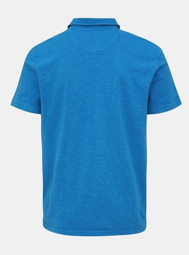 Modré pánské basic polo tričko s kapsou Tom Tailor