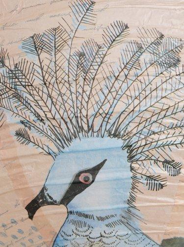 Meruňkový vzorovaný lampion Disaster Aviary Flamingo