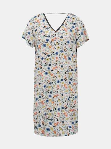 Bílé květované šaty Only Nova Deep