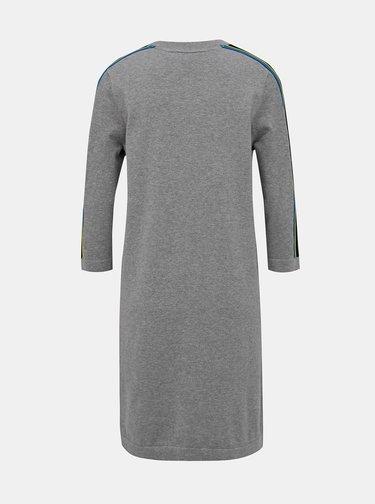 Šedé žíhané svetrové šaty Tommy Hilfiger Jackey