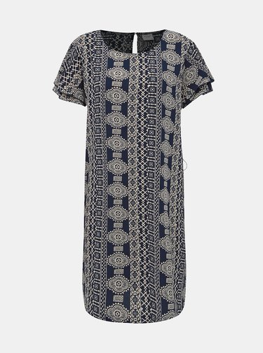 Tmavě modré vzorované šaty Jacqueline de Yong Trick