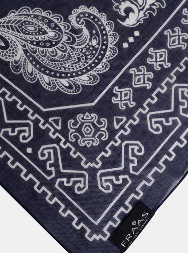 Tmavomodrá dámska vzorovaná šatka Fraas