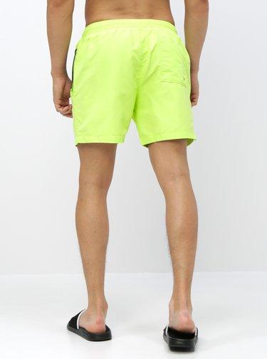 Neónovo zelené pánske plavky Calvin Klein Underwear