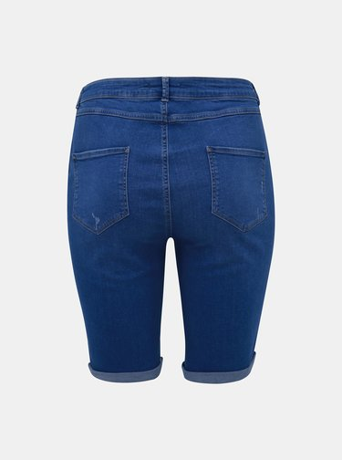 Modré denimové šortky Dorothy Perkins Curve