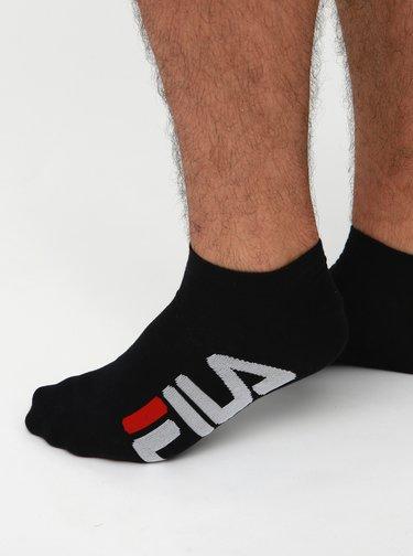 Sada dvou párů pánských černých nízkých ponožek FILA