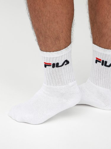 Sada tří páru bílých ponožek FILA