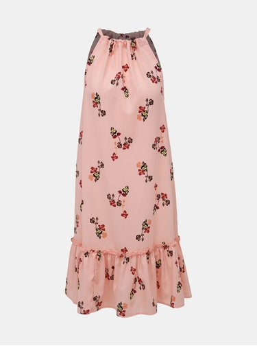 Růžové květované šaty VERO MODA Carina
