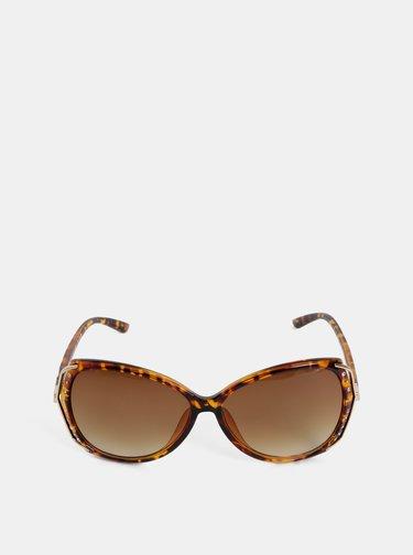 Hnědé vzorované sluneční brýle s kamínky Dorothy Perkins