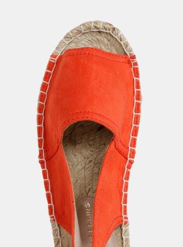 Oranžové espadrilky v semišové úpravě Dorothy Perkins