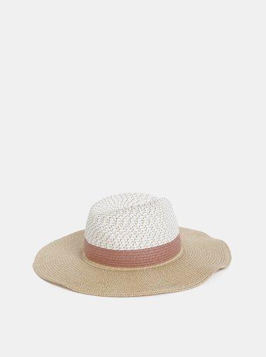 Bielo-béžový klobúk Dorothy Perkins