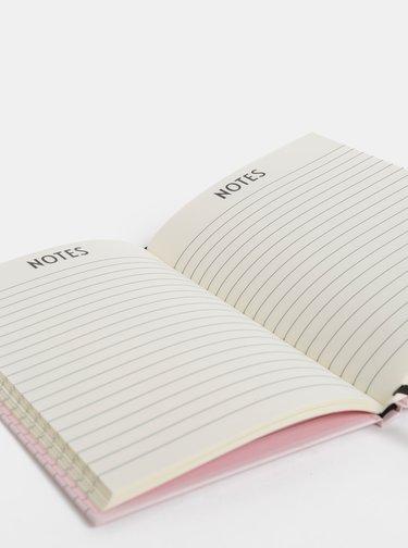Rúžový zápisník Design Letters Notes A5