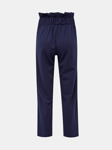 Tmavomodré skrátené nohavice s vysokým pásom Dorothy Perkins