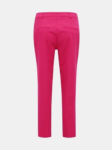 Tmavoružové skrátené nohavice Dorothy Perkins
