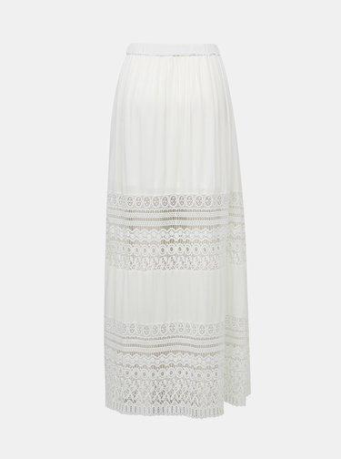 Bílá maxi sukně s krajkou TALLY WEiJL